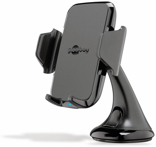 Kabelloses Ladegerät mit Handyhalterung, GOOBAY 66309, 10 W, Schwarz - Produktbild 2