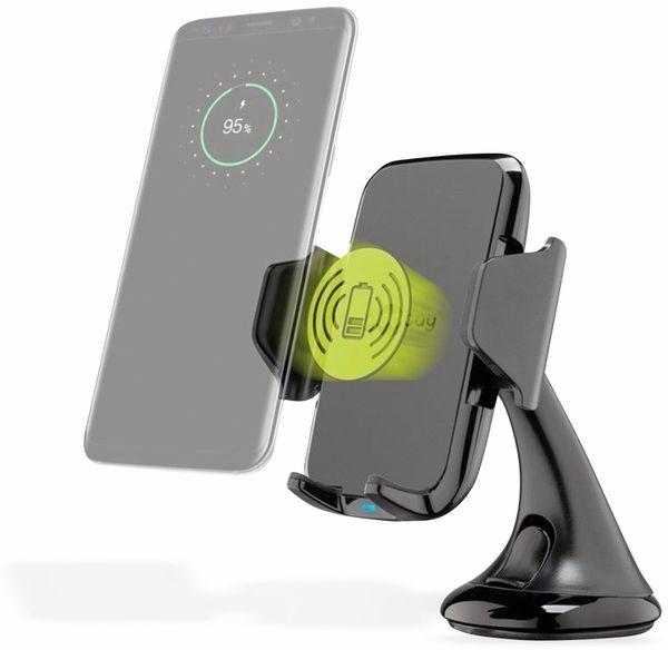 Kabelloses Ladegerät mit Handyhalterung, GOOBAY 66309, 10 W, Schwarz - Produktbild 3