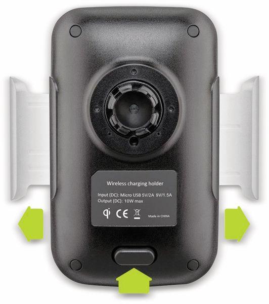 Kabelloses Ladegerät mit Handyhalterung, GOOBAY 66309, 10 W, Schwarz - Produktbild 7