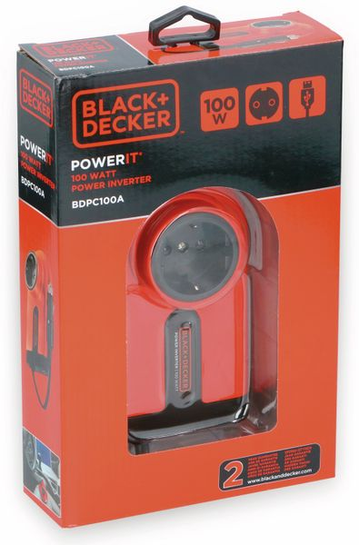 Wechselrichter BLACK + DECKER, 100 W