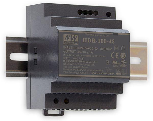 Hutschienen-Schaltnetzteil MEANWELL HDR-100-24, 25,5 V-/3,83 A