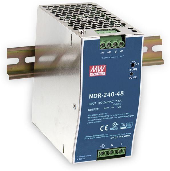 Schaltnetzteil MEANWELL NDR-240-24, 24 V-/10 A