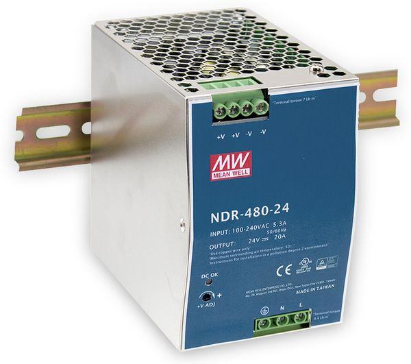 Schaltnetzteil MEANWELL NDR-480-24, 24 V-/20 A