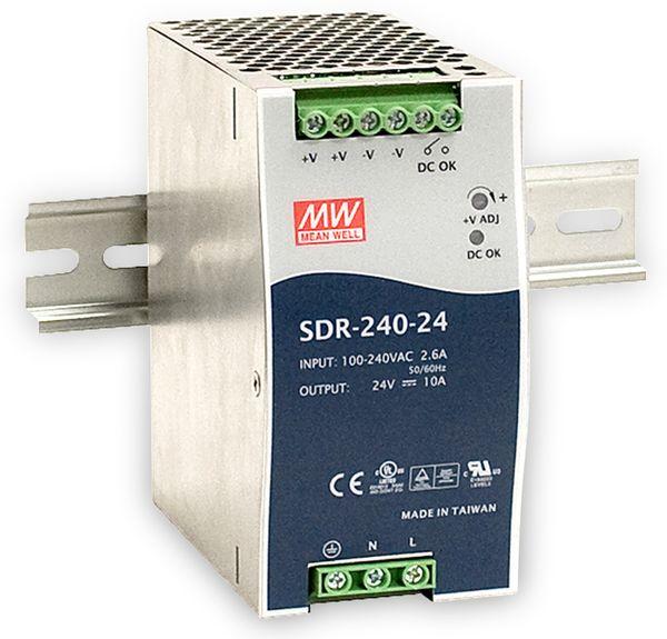 Schaltnetzteil MEANWELL SDR-240-24, 24 V-/10 A