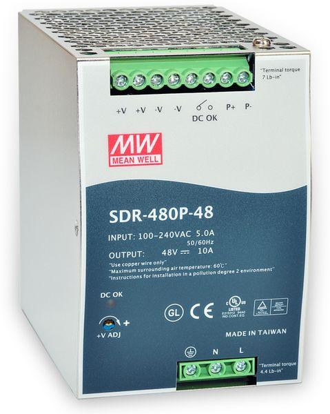 Schaltnetzteil MEANWELL SDR-480P-48, 48 V-/10 A