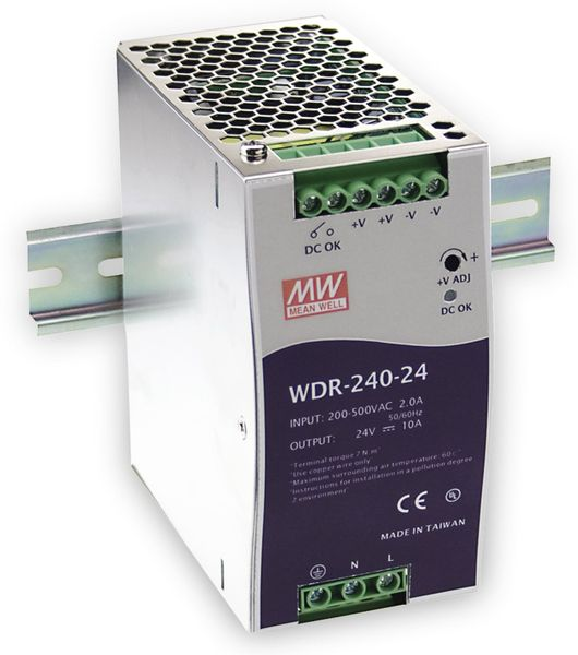 Schaltnetzteil MEANWELL WDR-240-48, 48 V-/5 A