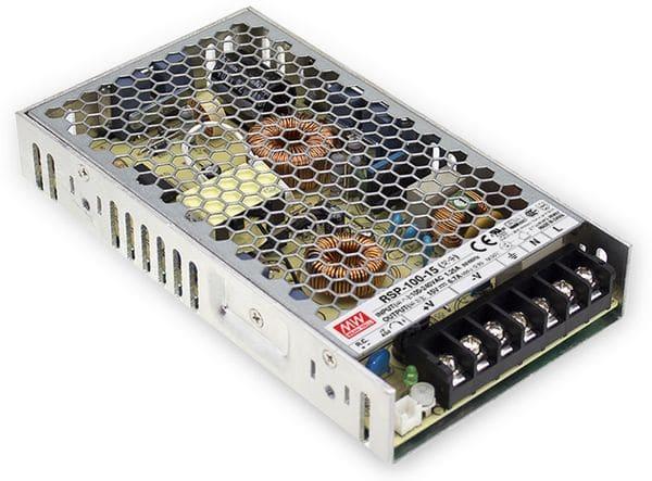 Schaltnetzteil MEANWELL RSP-100-15, 15 V-/6,7 A