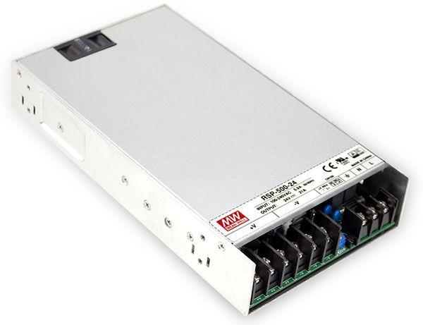 Schaltnetzteil MEANWELL RSP-500-24, 24 V-/21 A