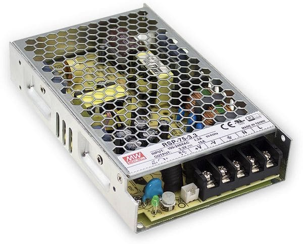Schaltnetzteil MEANWELL RSP-75-5, 5 V-/15 A