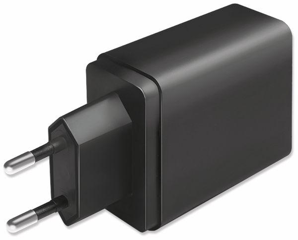 USB-Lader LOGILINK PA0221, 4-fach, 27 W, 3xUSB-A, 1xUSB-C, schwarz - Produktbild 3