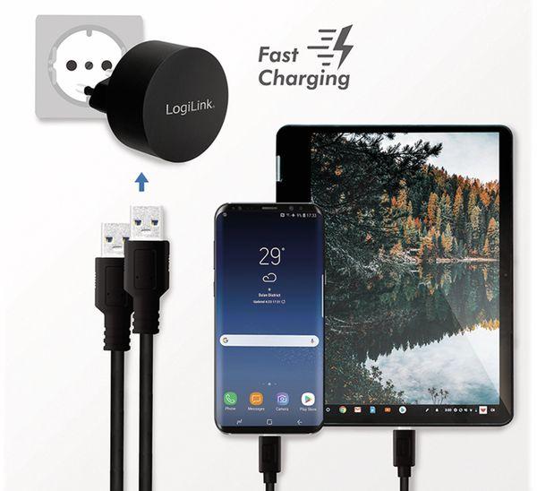 USB-Lader LOGILINK PA0218, 2-fach, 2,1 A, schwarz - Produktbild 4