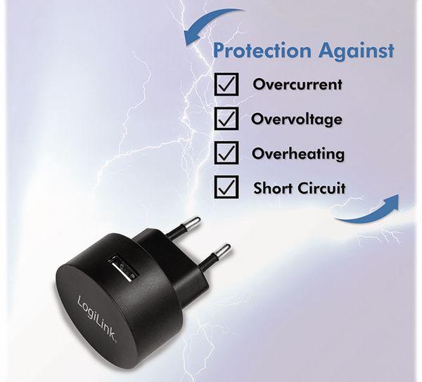 USB-Lader LOGILINK PA0217, 2,1 A, schwarz - Produktbild 5