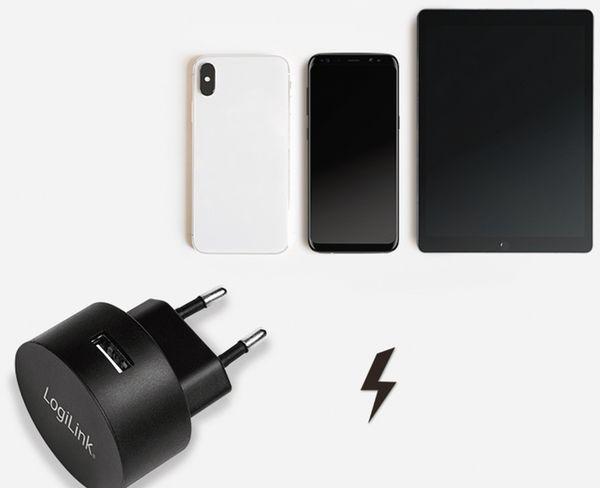 USB-Lader LOGILINK PA0217, 2,1 A, schwarz - Produktbild 6