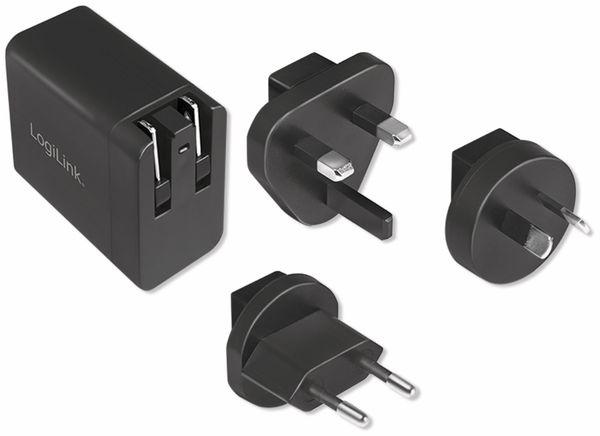 USB-Lader LOGILINK PA0188, 18 W, Reiseadapter für Quick Charge 3.0