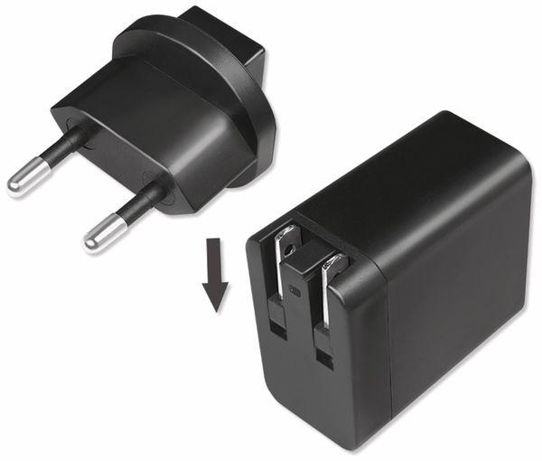USB-Lader LOGILINK PA0187, 2,1 A, Reiseadapter, schwarz - Produktbild 3