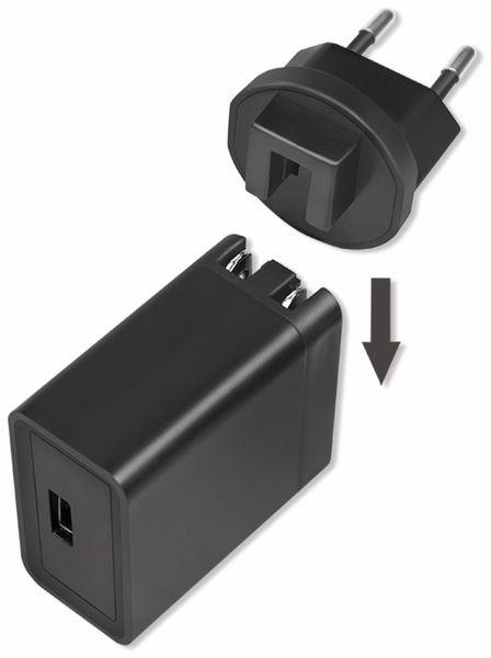 USB-Lader LOGILINK PA0187, 2,1 A, Reiseadapter, schwarz - Produktbild 5