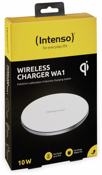 Kabelloses Ladegerät INTENSO 7410512 WA 1, 10 W, weiß - Produktbild 9