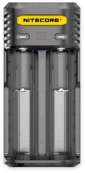 Ladegerät NITECORE Q2, 2-Schacht, für Li-Ion und Li-Ion IMR Akkus, schwarz
