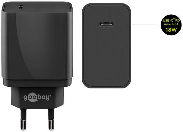 USB-Lader GOOBAY 44958, 3 A, 18 W, schwarz - Produktbild 2