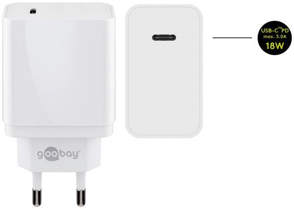 USB-Lader GOOBAY 44959, 2 A, 18 W, weiß - Produktbild 2