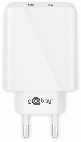 USB-Lader GOOBAY 44961, 2-fach, 2+3 A, 28 W, weiß