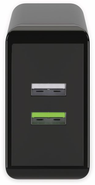 USB/QC-Lader GOOBAY 44956, 2-fach, 2+3 A, 28 W, schwarz - Produktbild 2