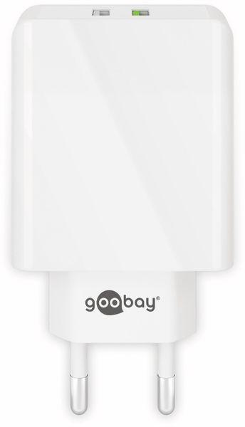 USB/QC-Lader GOOBAY 44957, 2-fach, 2+3 A, 28 W, weiß