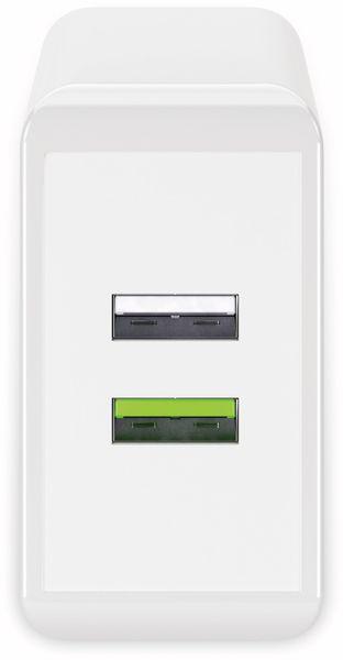 USB/QC-Lader GOOBAY 44957, 2-fach, 2+3 A, 28 W, weiß - Produktbild 2