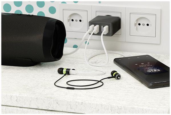 USB-Lader GOOBAY 44953, 4-fach, 3 A, 30 W, schwarz - Produktbild 3