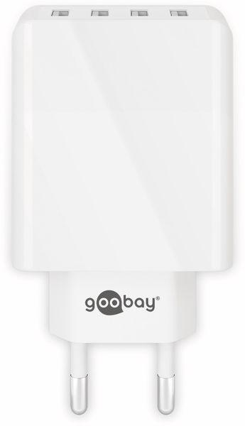 USB-Lader GOOBAY 44962, 4-fach, 3 A, 30 W, weiß