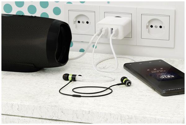 USB-Lader GOOBAY 44962, 4-fach, 3 A, 30 W, weiß - Produktbild 2