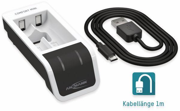 Ladegerät ANSMANN Comfort Mini, mit USB-Eingang - Produktbild 5
