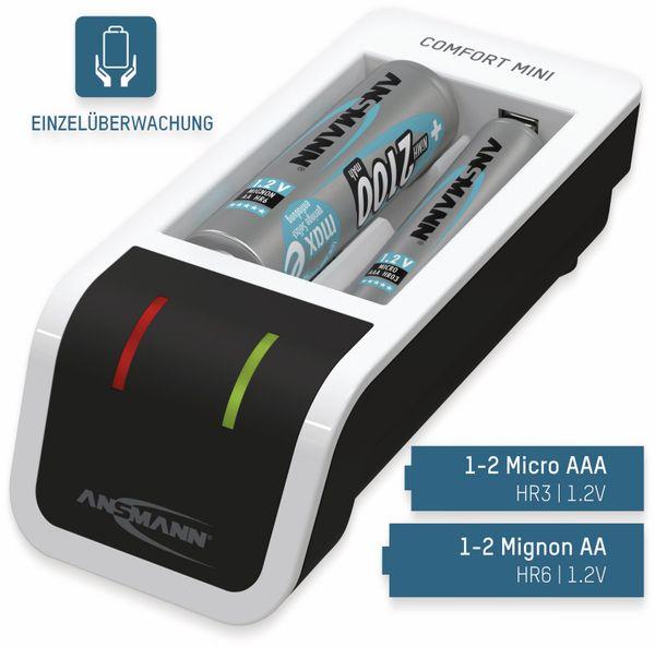 Ladegerät ANSMANN Comfort Mini + 2 AA, mit USB-Eingang - Produktbild 4