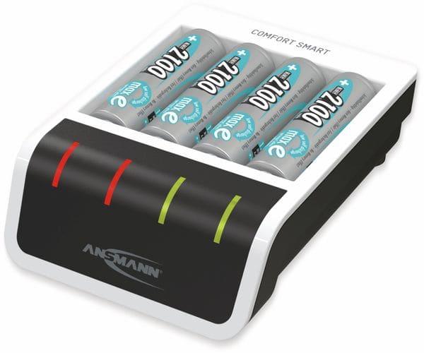 Ladegerät ANSMANN Comfort Smart + 4 AA, mit USB-Eingang