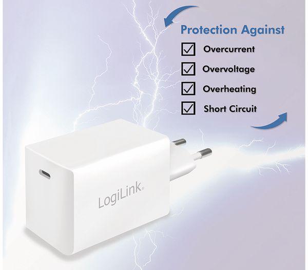 USB-Lader LOGILINK PA0229, 60 W, 1xUSB-C, GaN-Technologie, weiß - Produktbild 6