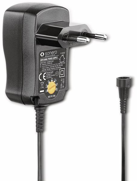 Universal-Steckernetzteil SONERO X-PS025, 1500 mA, schwarz - Produktbild 3