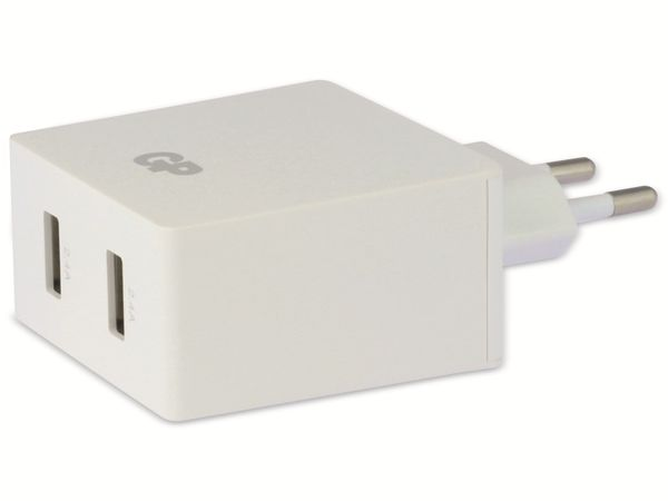 USB Ladegerät GP Batteries WA42 , 5V, 4800 mA, 2x USB