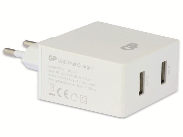 USB Ladegerät GP Batteries WA42 , 5V, 4800 mA, 2x USB - Produktbild 3