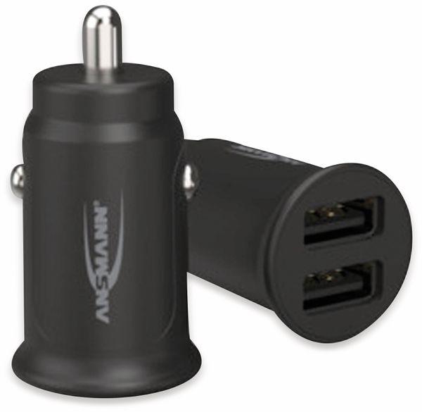 USB-Ladegerät KFZ ANSMANN CC212, 12 W, 5 V-, 2,4 A, 2-port, schwarz