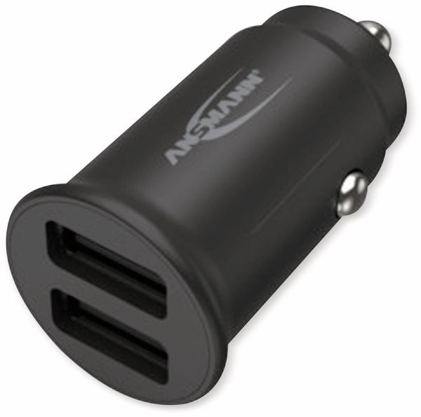 USB-Ladegerät KFZ ANSMANN CC212, 12 W, 5 V-, 2,4 A, 2-port, schwarz - Produktbild 3