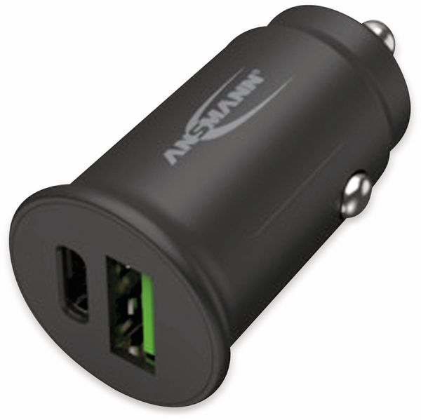 USB-Ladegerät KFZ ANSMANN CC230PD, USB-C (PD), 30 W, 5 V-, 3 A, QC 3.0, schwarz - Produktbild 3