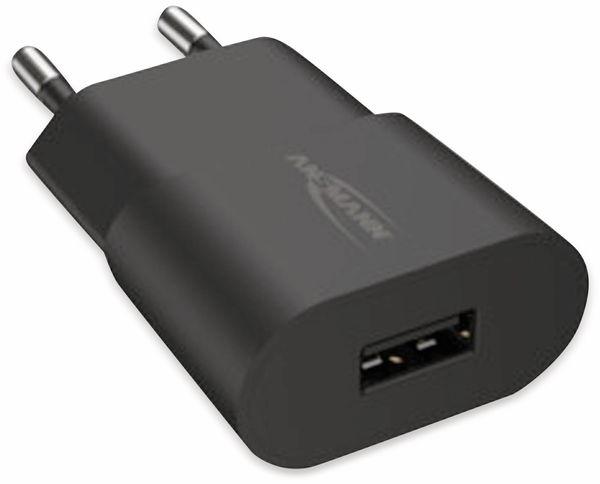 USB-Ladegerät ANSMANN HC105, 5 V, 1 A, schwarz - Produktbild 5