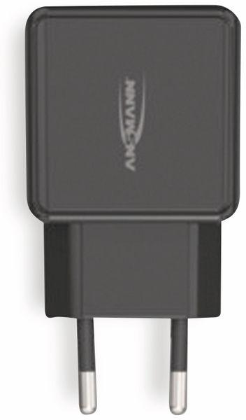 USB-Ladegerät ANSMANN HC212, 5 V, 2,4 A, 2-Port, schwarz