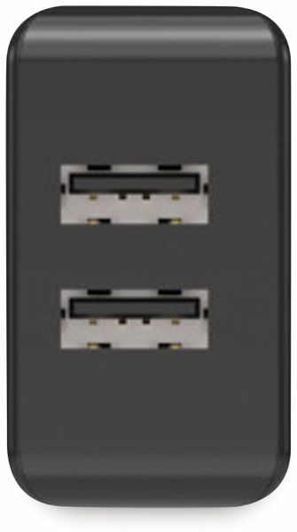 USB-Ladegerät ANSMANN HC212, 5 V, 2,4 A, 2-Port, schwarz - Produktbild 3