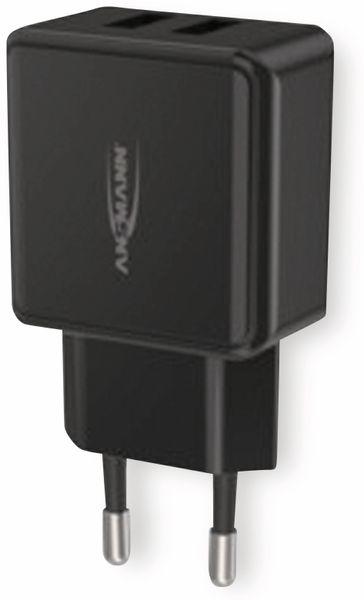 USB-Ladegerät ANSMANN HC212, 5 V, 2,4 A, 2-Port, schwarz - Produktbild 6