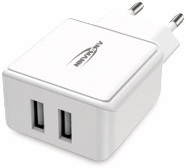 USB-Ladegerät ANSMANN HC212, 5 V, 2,4 A, 2-Port, weiß - Produktbild 5