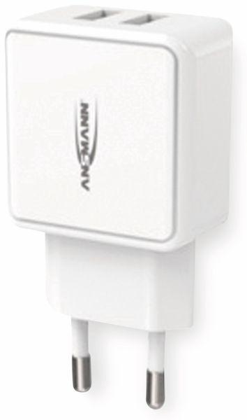 USB-Ladegerät ANSMANN HC212, 5 V, 2,4 A, 2-Port, weiß - Produktbild 6