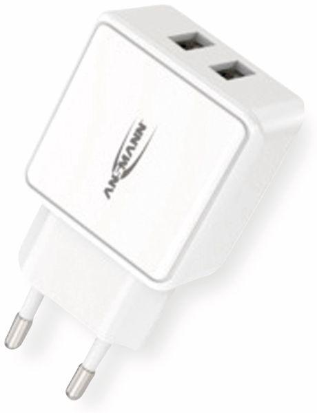 USB-Ladegerät ANSMANN HC212, 5 V, 2,4 A, 2-Port, weiß - Produktbild 7