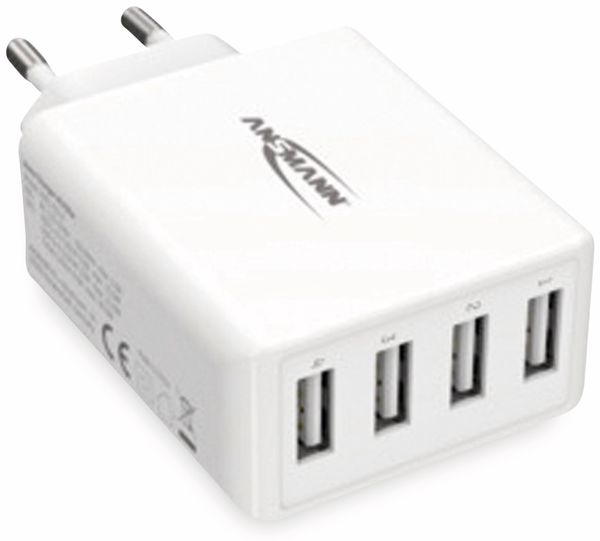 USB-Ladegerät ANSMANN HC430, 30 W, 5 V, 3 A, 4-Port, weiß - Produktbild 4
