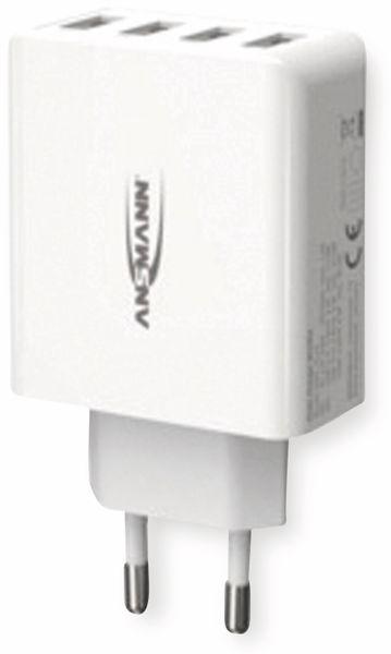 USB-Ladegerät ANSMANN HC430, 30 W, 5 V, 3 A, 4-Port, weiß - Produktbild 6